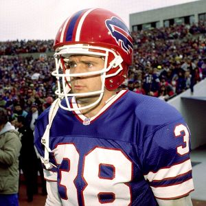 Buffalo Bill Mark Kelso padded his helmet.