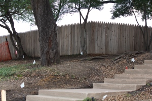 The Grassy Knoll is no longer so grassy. This is location many believe the last shot came from.