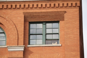 The sixth floor corner window of the Texas School Book Depository Building