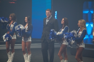 NFL Man of the Year Jason Witten and the Dallas Cowboys Cheerleaders