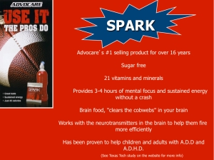 Spark is loaded with 21 different vitamins, minerals, and other nutrients. It contains no sugar. And it works!!!